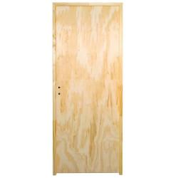 Puerta Placa pino marco madera - 80x15...