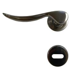 Manija Elisse giratoria bronce platil opaco 5961