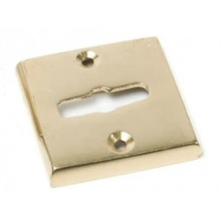 Boca llave común cuadrada bronce pulido 44mm x...