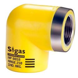 """Codo 90º Con Rosca Rh 32mm X 3/4"""" Sigas"""