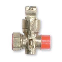 Llave de gas con candado 19 mm