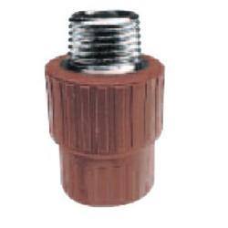 """Cupla fusión 1"""" - rosca metálica (M) hidro 3"""
