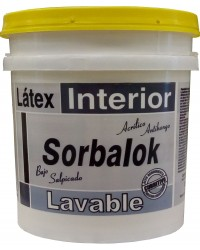 SORBALOK LATEX INTERIOR LAVABLE BLANCO X 4 LTS