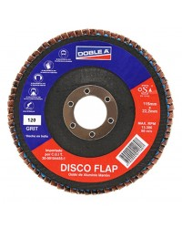 DISCO TIPO FLAP - 115MM - GRANO 120 - DOBLE A