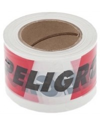 Cinta advertencia peligro 8 cm x 200 mts por rollo
